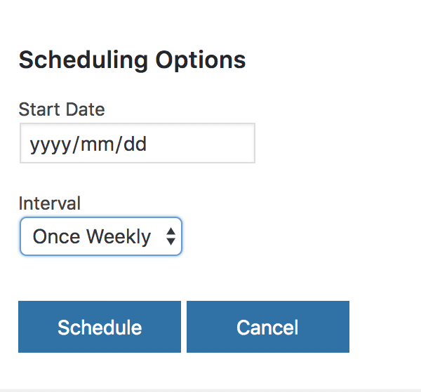 Import Scheduling