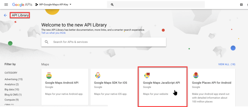 Creating A Google Maps Api Key Wp Google Maps
