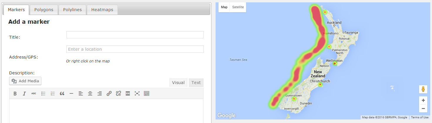 how to create a heatmap in google maps