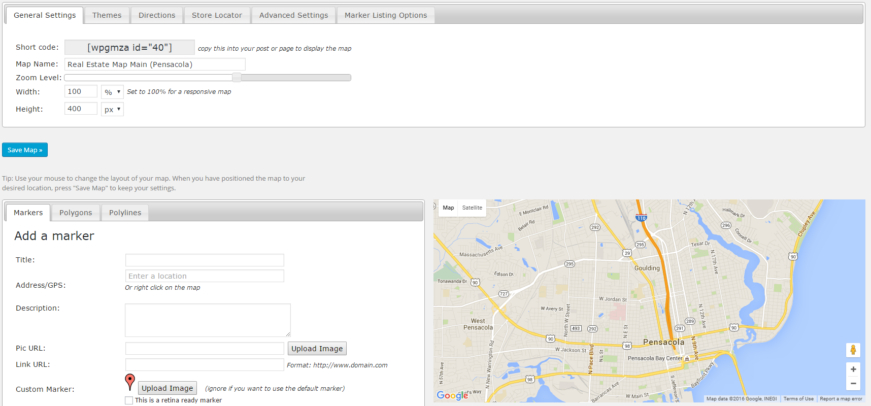 Google Maps Listing Edit