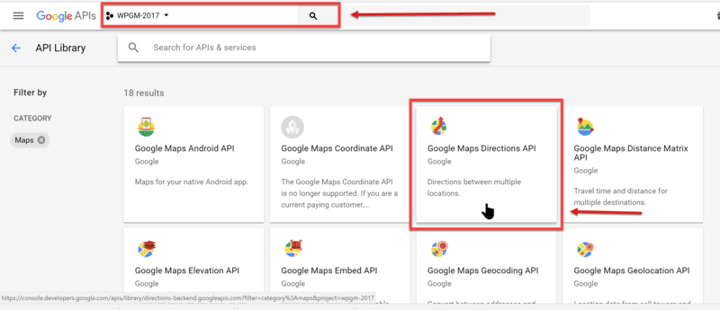 How to Enable the Google Maps Directions API in Your API Project