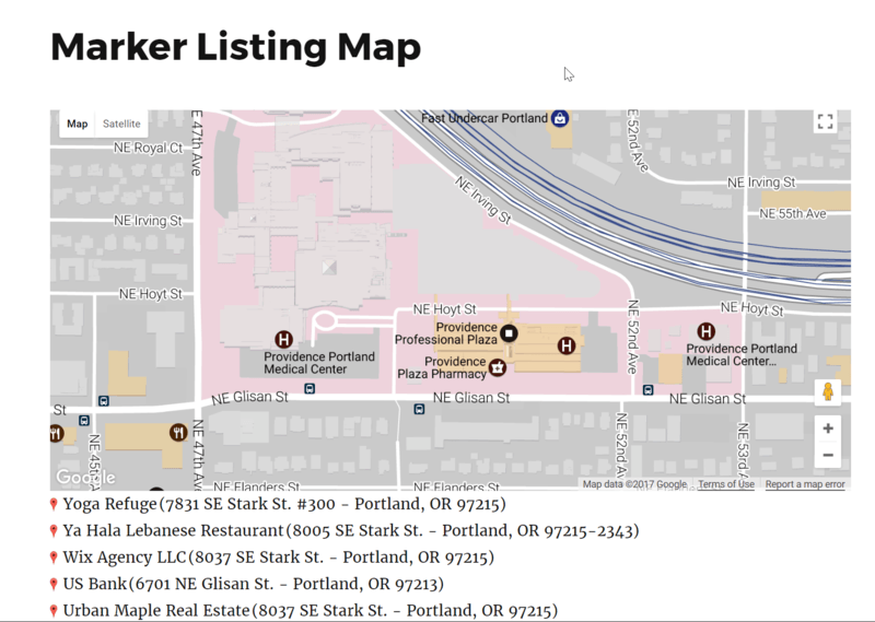 Marker Listing Display | WP Google Maps