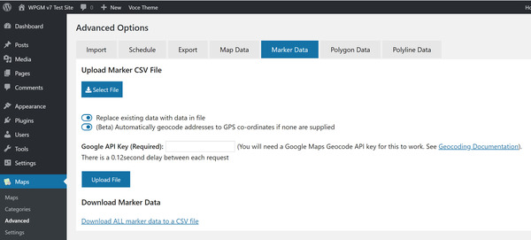 Exporting and Importing Data (Legacy) | WP Google Maps