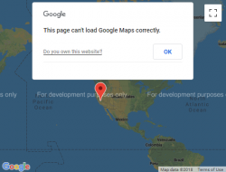 """This page can't load Google Maps correctly"""" 
