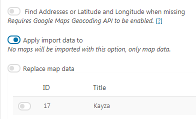 Exporting and Importing Data | WP Google Maps